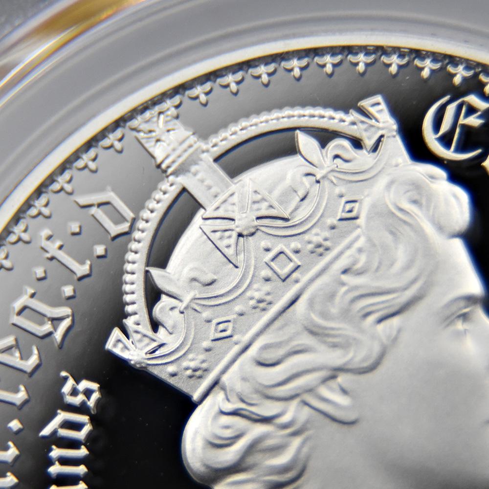 オルダニー島 2021 エリザベス2世 ニューゴチッククラウン 5ポンド銀貨 2枚セット プルーフ仕上げ PCGS PR70DC鑑定品 発行数2500セット【ご予約承り品】