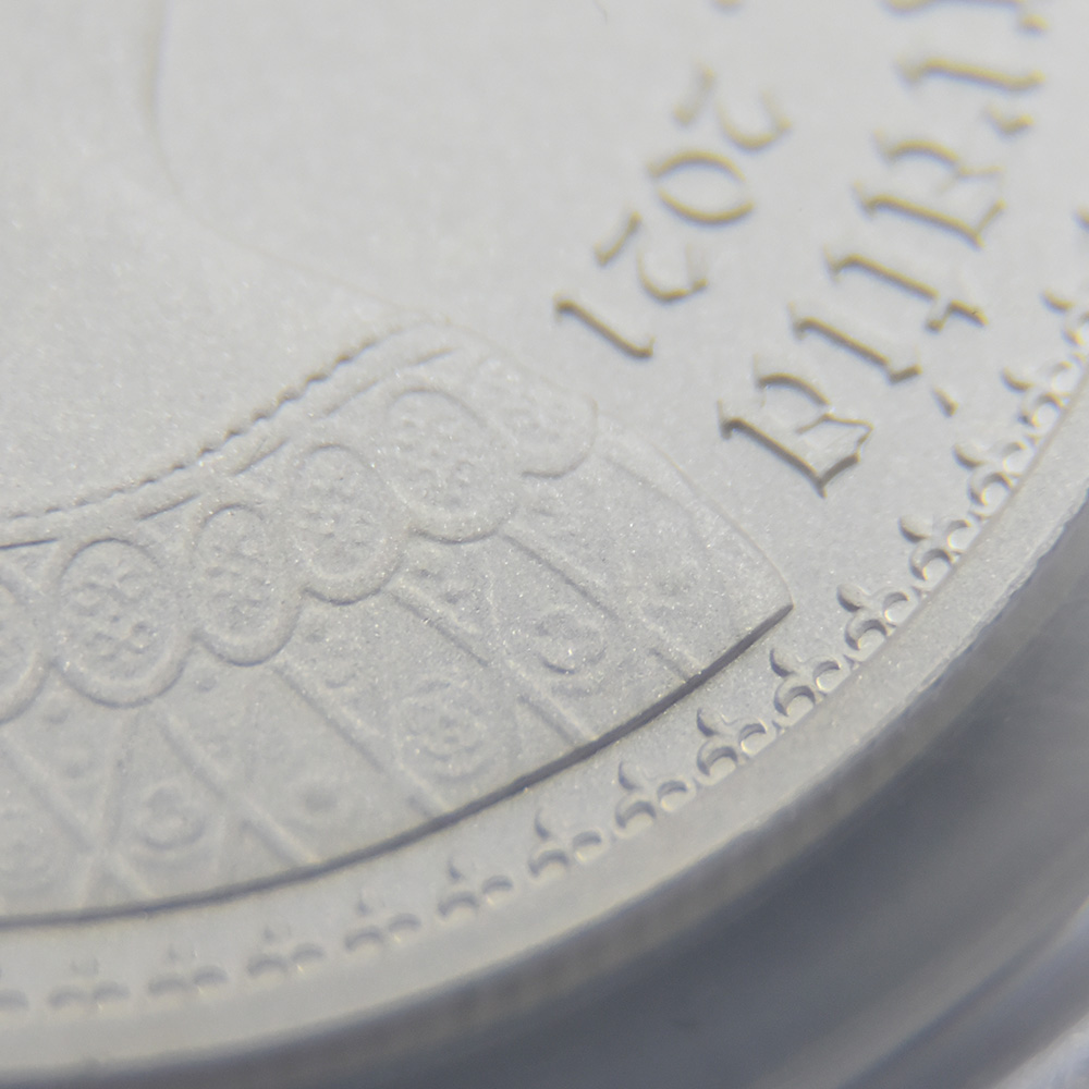 オルダニー島 2021 エリザベス2世 ニューゴチッククラウン 5ポンド銀貨 2枚セット マットプルーフ仕上げ PCGS PR70DC鑑定品 発行数625セット【ご予約承り品】