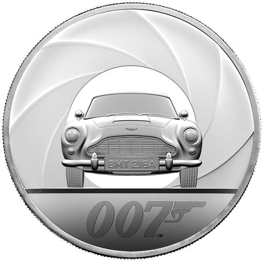 2020 エリザベス2世 「007」 10ポンド5オンス銀貨発行数 440枚