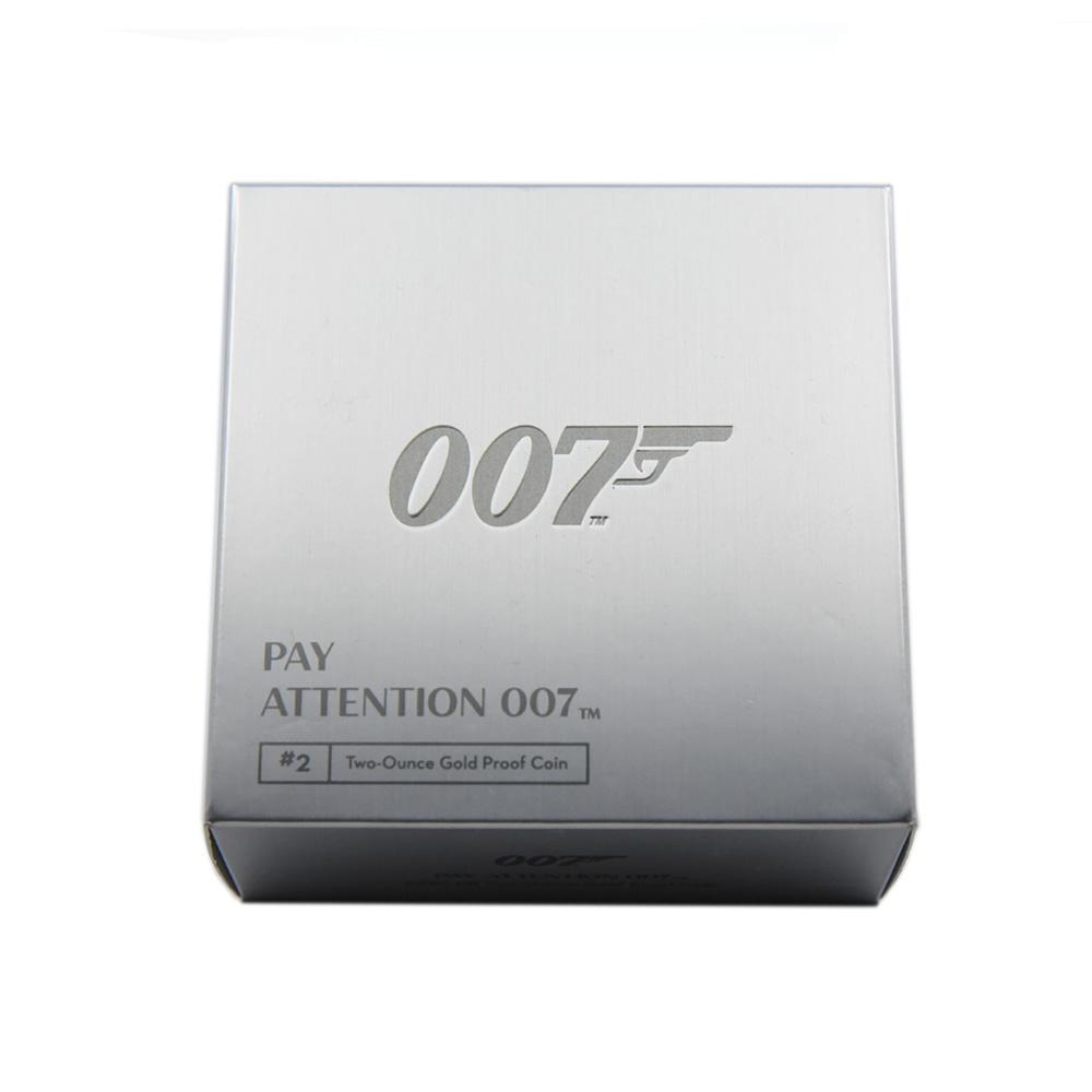 2020 エリザベス2世 007 ジェームズ・ボンド  200ポンド2オンス金貨 3点セット PCGS PR70DC 箱付き