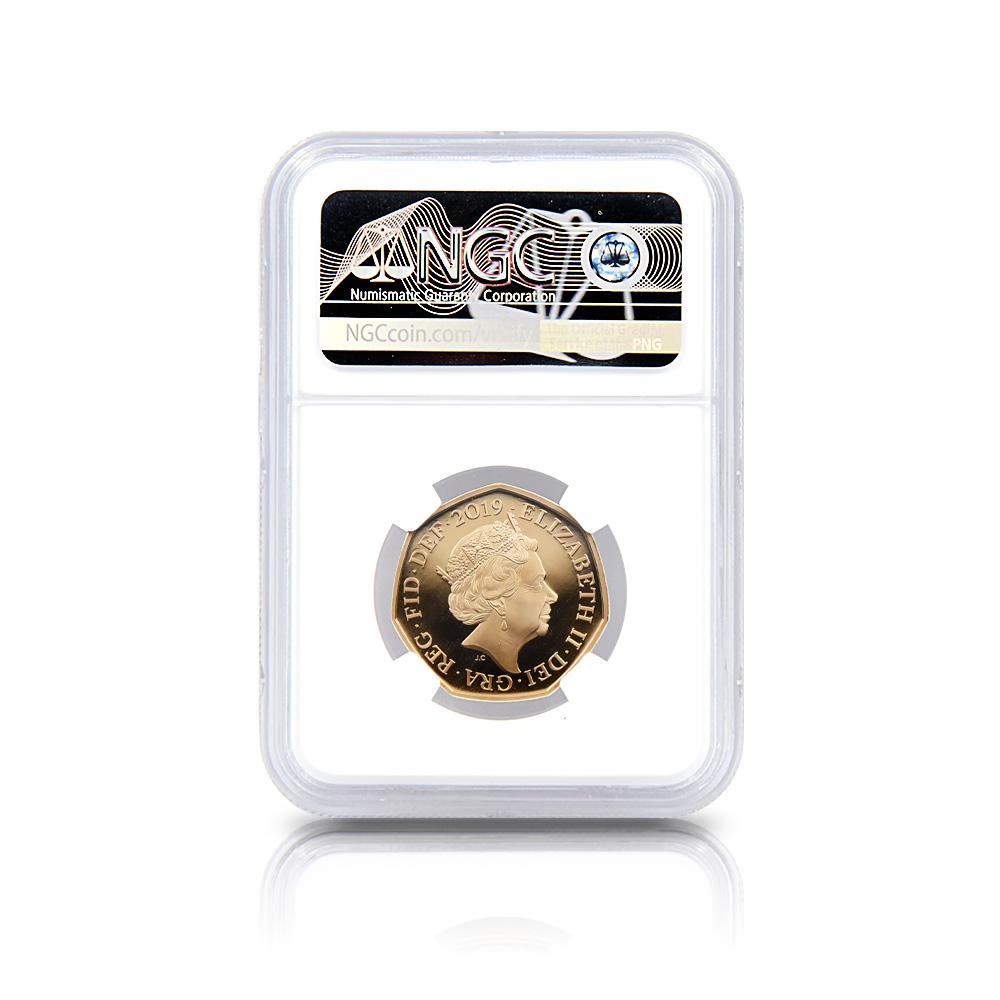 2019 エリザベス2世 50ペンス貨発行50周年  ボーイスカウト運動100周年記念 50ペンス金貨 NGC PF70UC