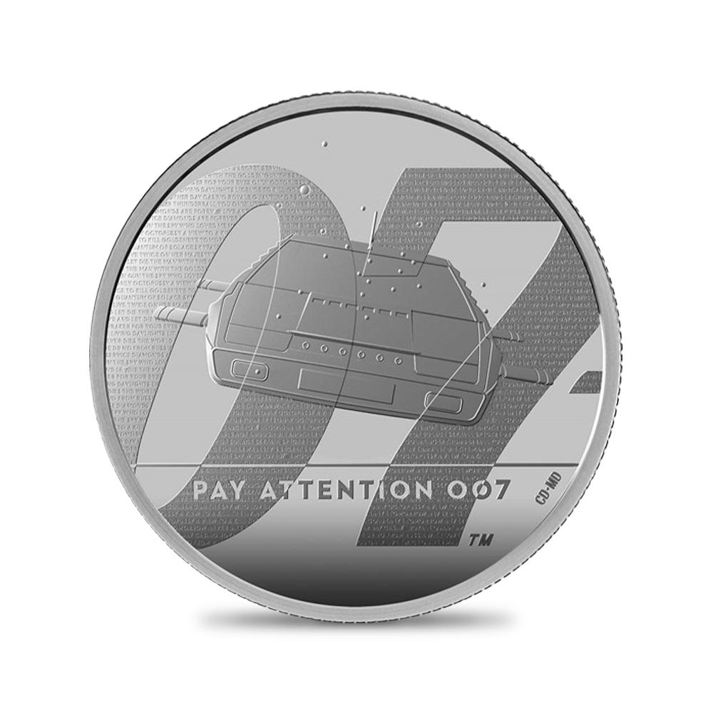 2020 エリザベス2世 「007」 5ポンド2オンス銀貨 3点セット【ご予約承り品】
