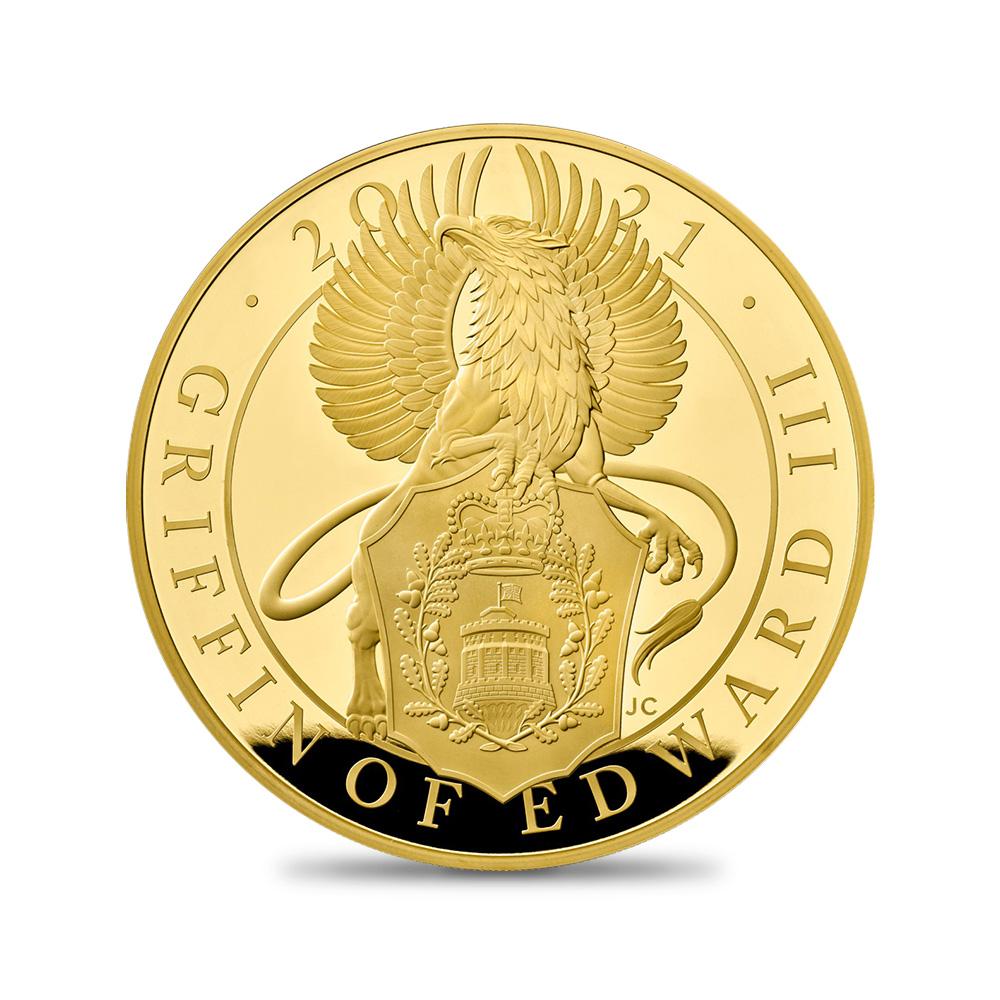 2021 クイーンズビースト エドワード3世のグリフィン 1キロ金貨 【予約承り品】