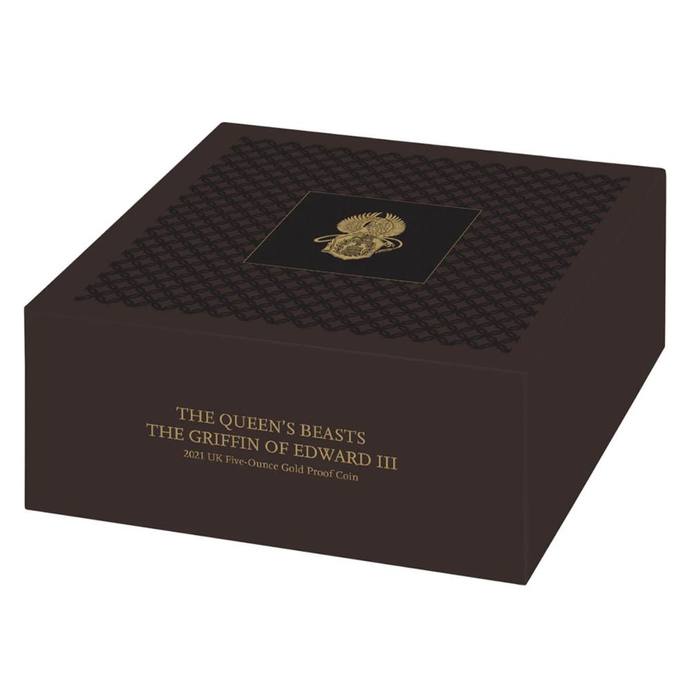 2021 クイーンズビースト エドワード3世のグリフィン 5オンス金貨 【予約承り品】