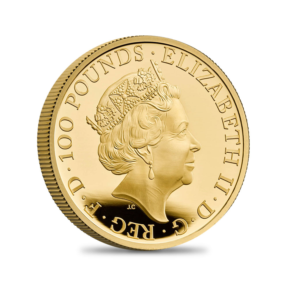 2021 エリザベス2世 金本位制制定200周年記念 100ポンド1オンスプルーフ金貨 未鑑定 箱付き【ご予約承り品】
