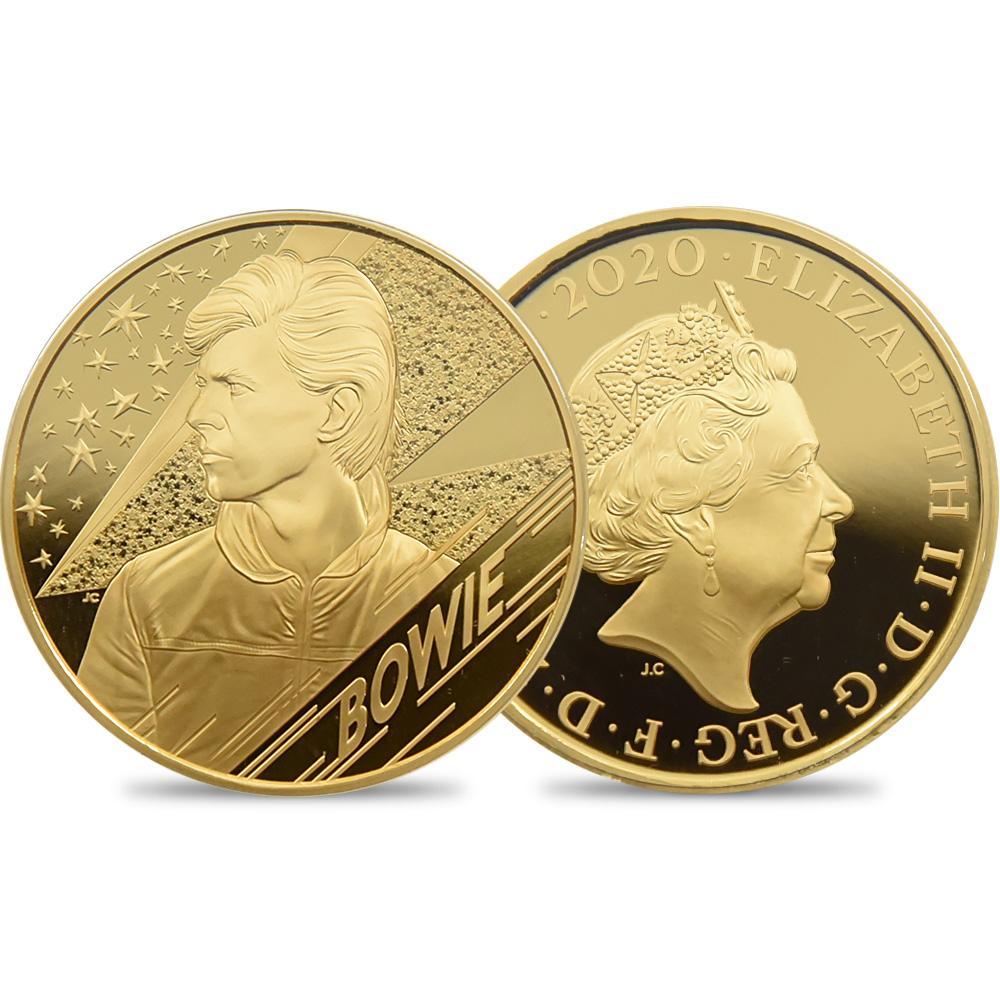 2020 エリザベス2世 ミュージックレジェンド デヴィッド・ボウイ 200ポンド2オンス金貨 ファーストリリース NGC PF70UC