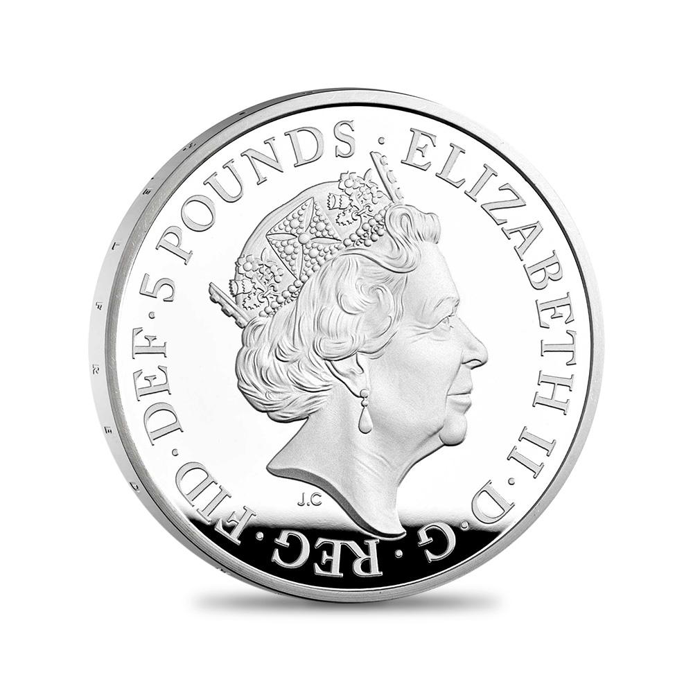 2021 エリザベス2世 アルフレッド・ザ・グレートミンテージ 5ポンドプルーフ銀貨 未鑑定【ご予約承り品】