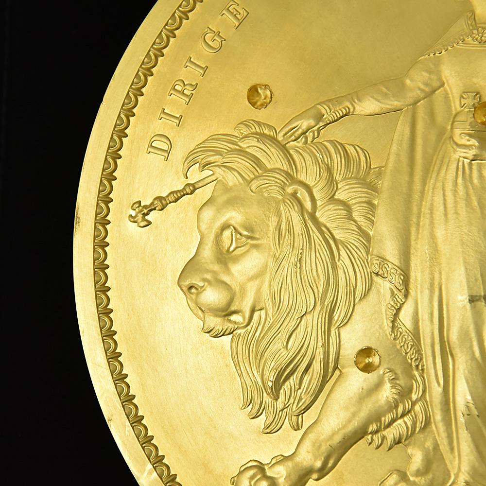 2019年 ウナ&ライオン 試作金貨 トライアルピース 5000ポンド(5キロ) 発行数世界限定1枚【ご予約承り品】