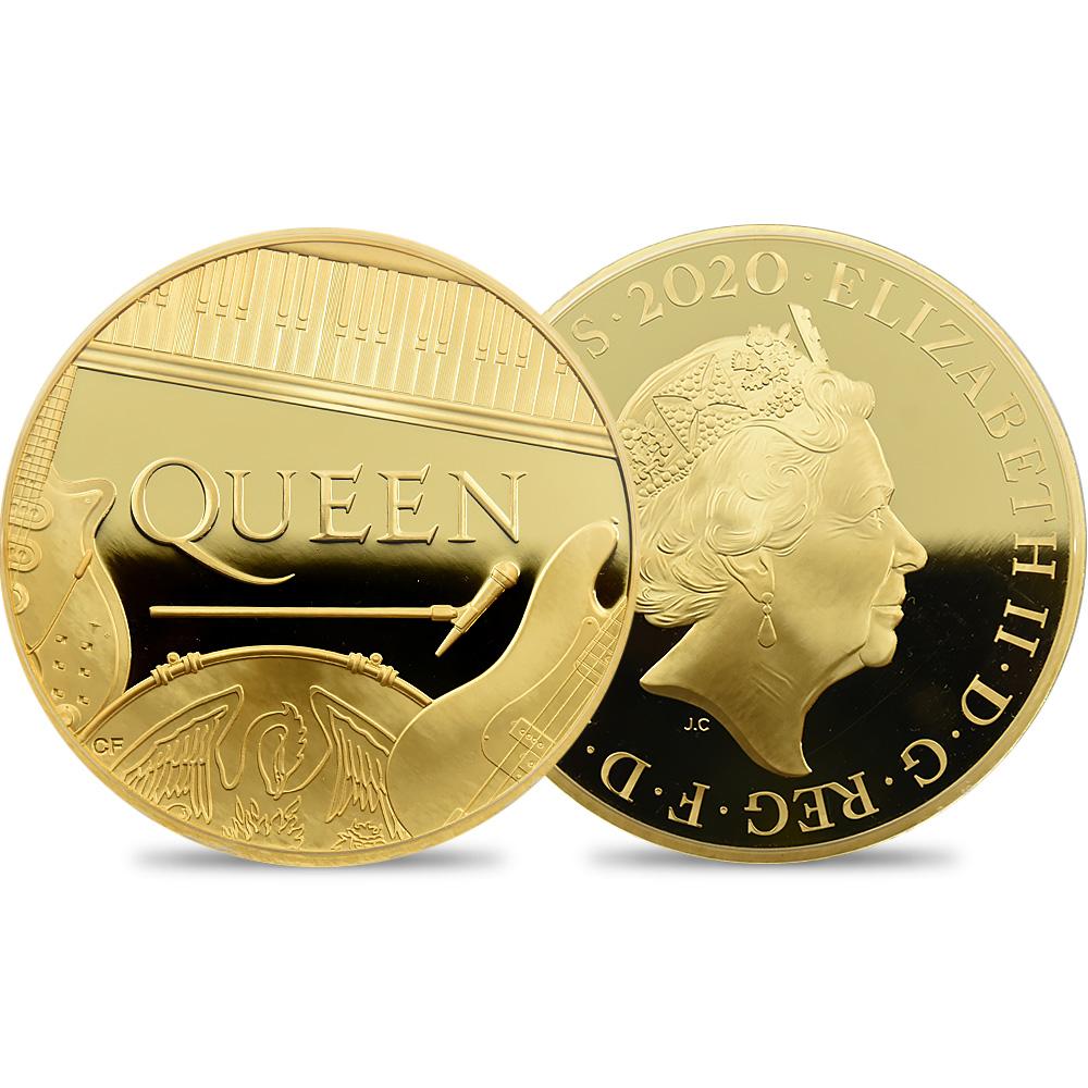 2020 エリザベス2世 ミュージックレジェンド Queen 1000ポンド(1キロ)金貨 No.1 発行数6枚限定【ご予約承り品】