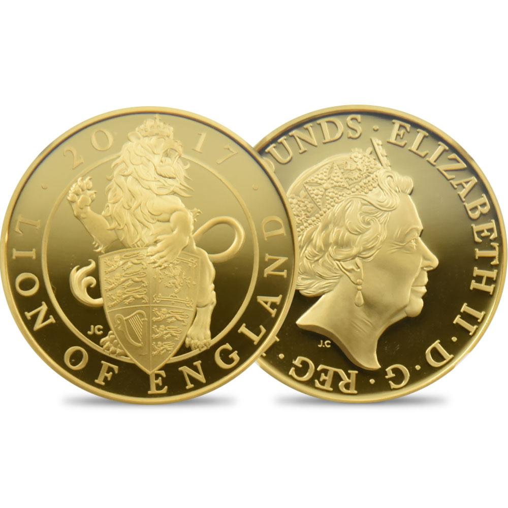 2017 クイーンズビースト イングランドのライオン 100ポンド金貨 NGC PF70UC