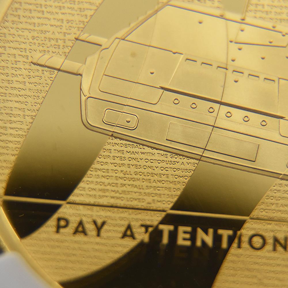 2020 エリザベス2世 007 ジェームズ・ボンド 第2貨 200ポンド2オンス金貨 ファーストリリース NGC PF70UC 箱付き