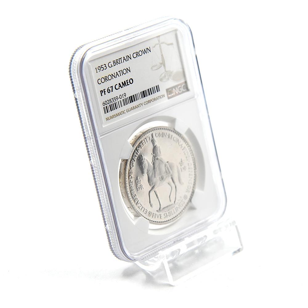 1953 エリザベス2世 エリザベス2世戴冠記念 クラウン白銅貨 NGC PF67CA