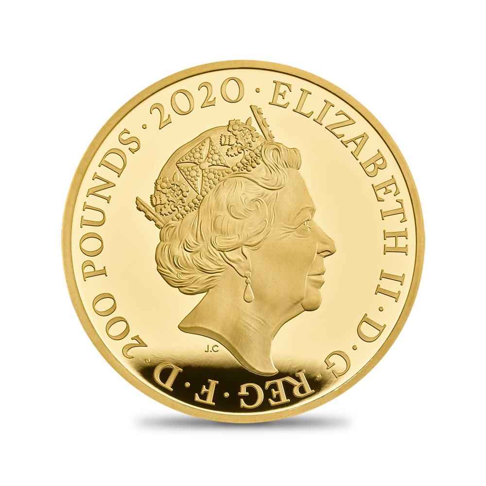 2020 エリザベス2世 スリーグレーセス 200ポンド2オンス金貨  ファーストデイオブイシュー NGC PF70UCFDI【ご予約承り品】