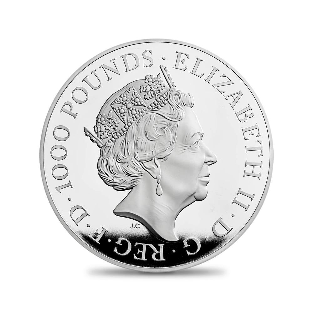 2021 エリザベス2世 クイーンズビースト コンプリーター 英国王室の十大守護獣 1000ポンド2キロプルーフ銀貨  未鑑定【ご予約承り品】