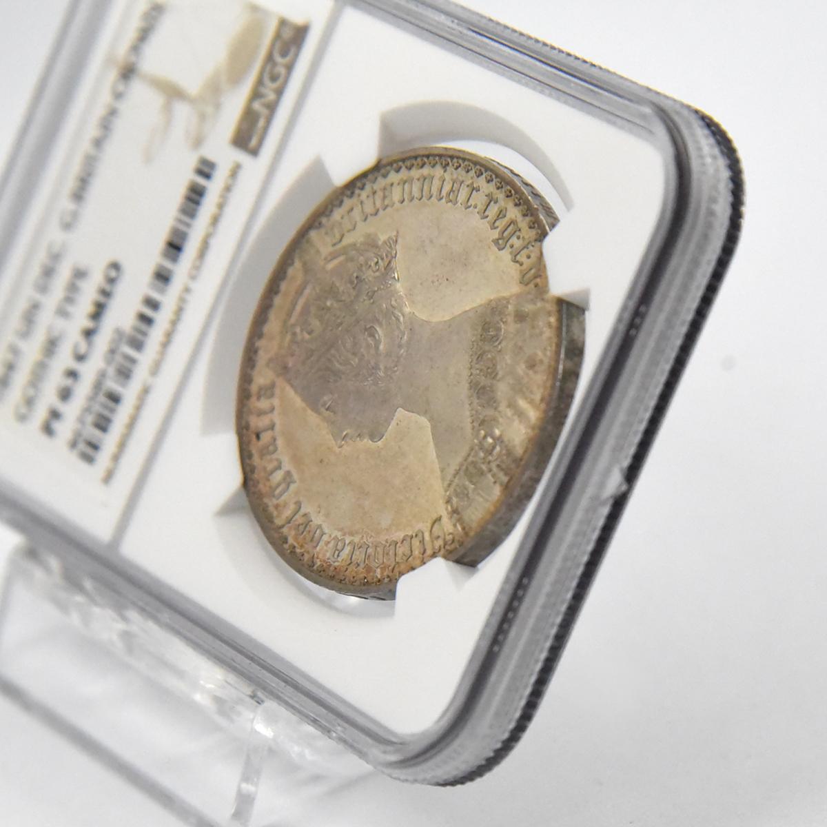 1847年 ヴィクトリア女王 ゴシッククラウン銀貨 NGC PF63CA