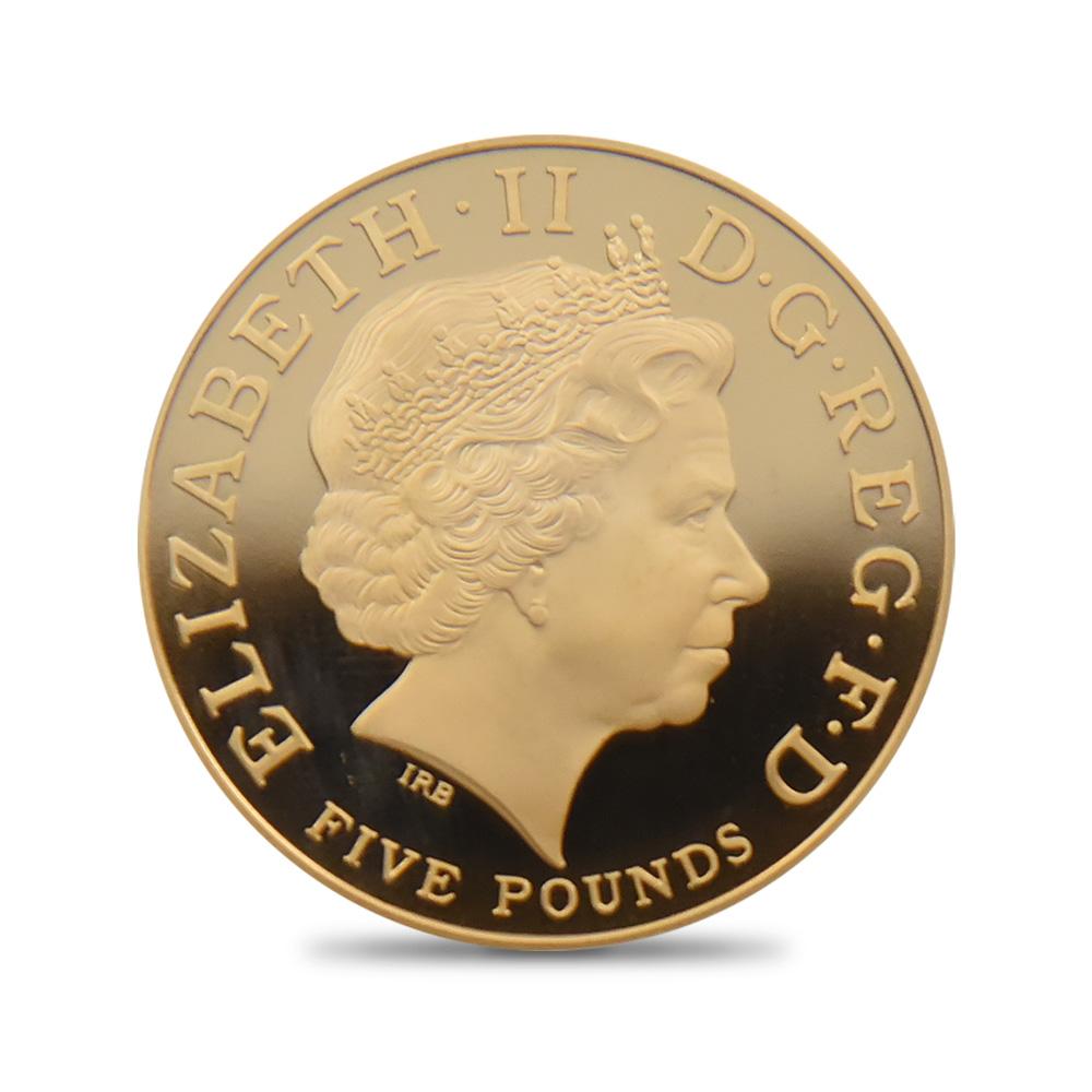2008 チャールズ皇太子生誕60年記念 5ポンド金貨 PCGS PR69DC 867枚発行
