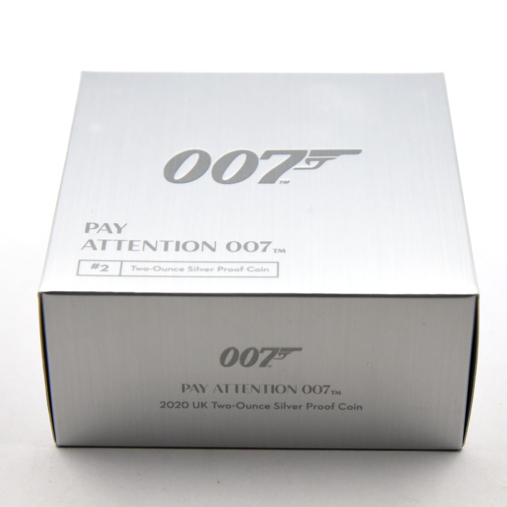 2020 エリザベス2世 007 ジェームズ・ボンド 第2貨 5ポンド2オンス銀貨 NGC PF70UC 箱付き