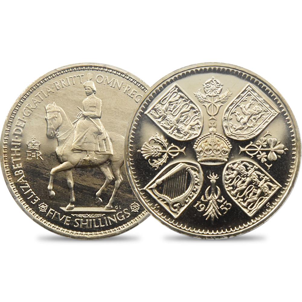 1953 エリザベス2世 エリザベス2世戴冠記念 クラウン白銅貨 PCGS PR65CAM