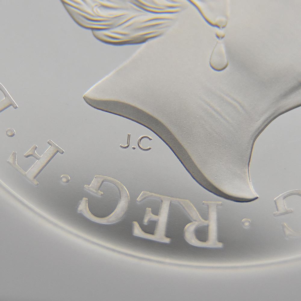 2020 エリザベス2世 スリーグレーセス 5ポンド2オンス銀貨 ロイヤルミント発行 NGC PF69UC 箱付き
