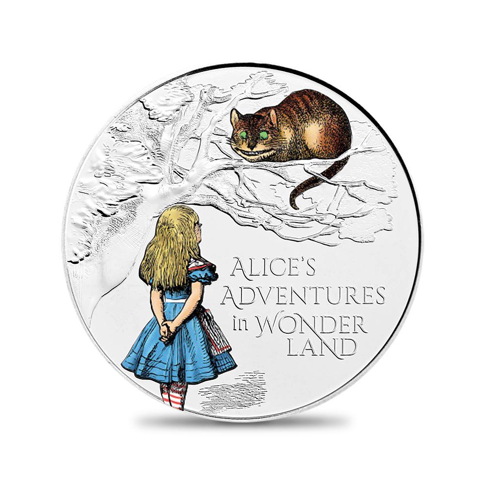 2021 エリザベス2世 不思議の国のアリス 5ポンドカラーBU白銅貨 ロイヤルミント発行 未鑑定 発行枚数15000枚 【ご予約承り品】