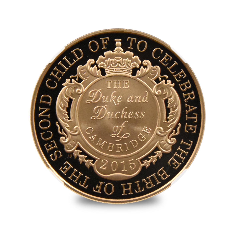 2015 シャーロット王女 誕生記念 5ポンド金貨 NGC PF70UC 400枚発行