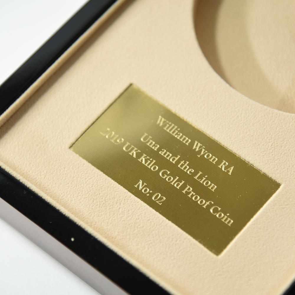 2019年 ウナ&ライオン 1,000ポンド金貨 (1キロ) 専用ボックス付【ご予約承り品】