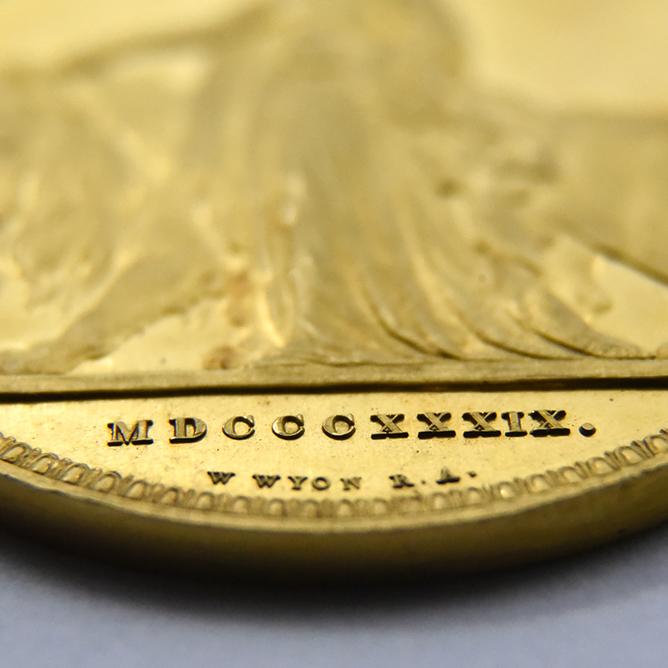 1839年 ヴィクトリア女王 5ポンド金貨 ウナ&ライオン WR-277(R6) 世界現存数3〜5枚限定