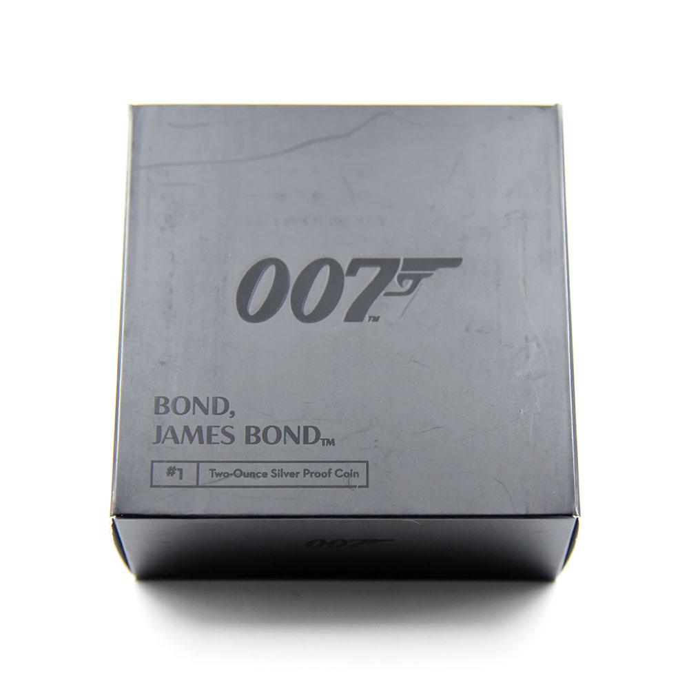 2020 エリザベス2世 007 ジェームズ・ボンド 第1貨 5ポンド2オンス銀貨 NGC PF70UC 箱付き