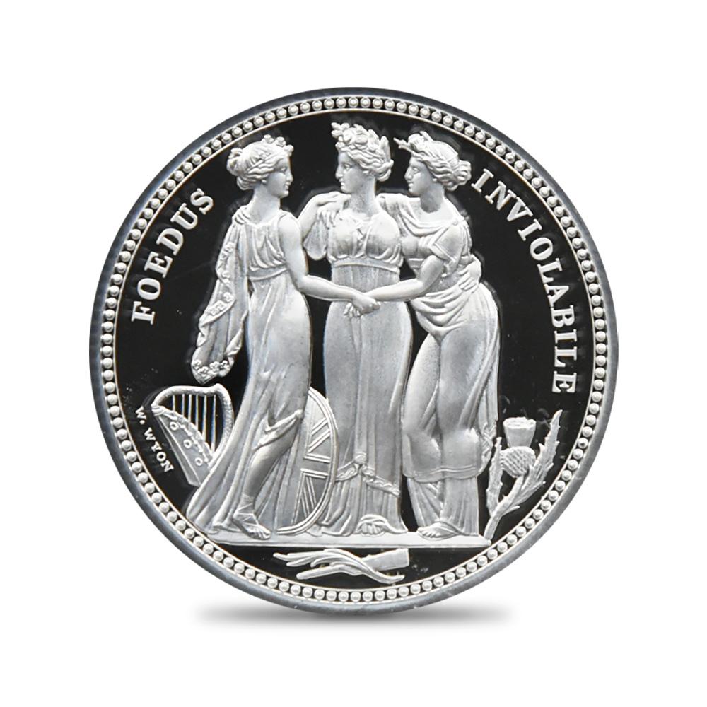 2020 エリザベス2世 スリーグレーセス 5ポンド2オンス銀貨 ロイヤルミント発行 ファーストリリース NGC PF69UC 箱付き