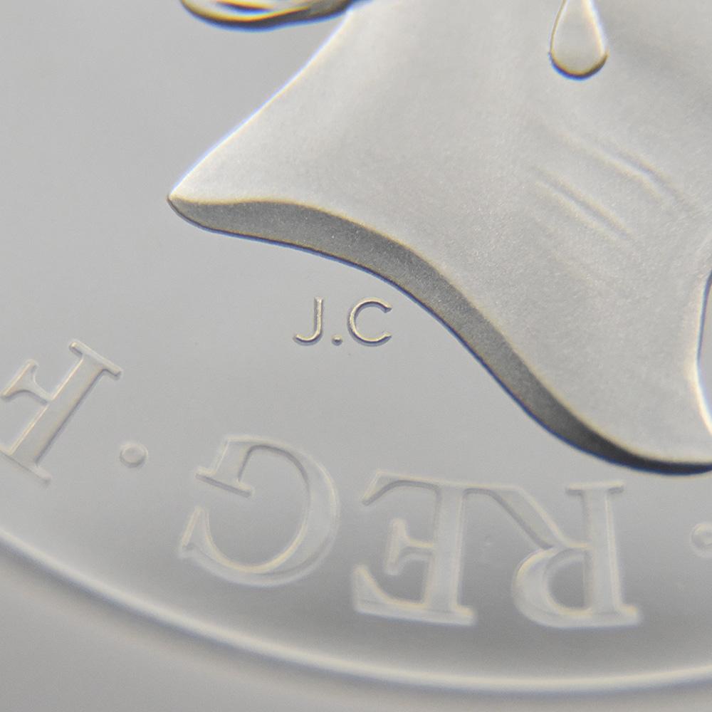 2020 エリザベス2世 スリーグレーセス 5ポンド2オンス銀貨 ロイヤルミント発行 ファーストリリース NGC PF70UC 箱付き