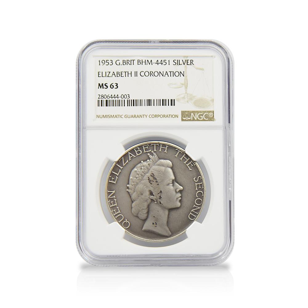 1953年 エリザベス2世 戴冠記念メダル 金銀銅3枚セット