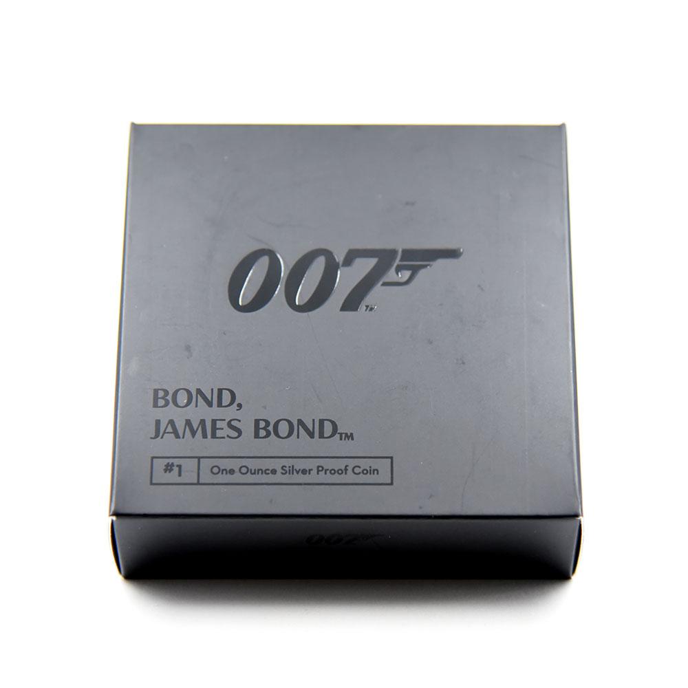 2020 エリザベス2世 007 ジェームズ・ボンド 第1貨 2ポンド1オンス銀貨 PCGS PR70DC 箱付き