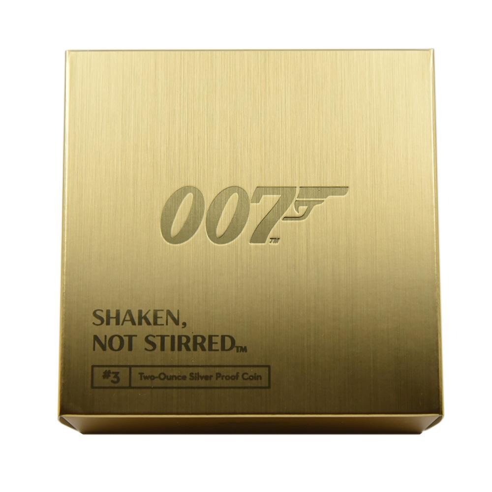 2020 エリザベス2世 007 ジェームズ・ボンド 第3貨 5ポンド2オンス銀貨 PCGS PR70DC 箱付き