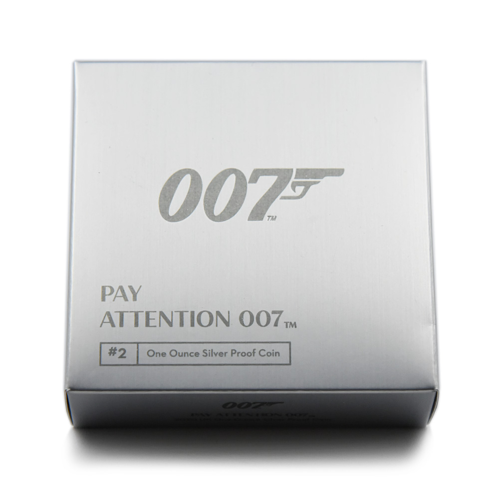 2020 エリザベス2世 007 ジェームズ・ボンド 第2貨 2ポンド1オンス銀貨 PCGS PR70DC 箱付き