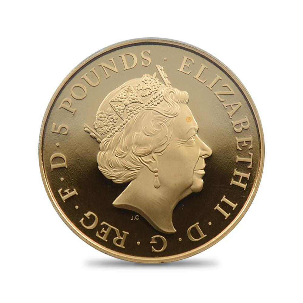 2015 エリザベス2世 シャーロット王女洗礼記念 5ポンド金貨 PCGS PR69DC 350枚発行
