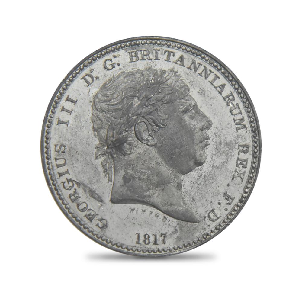 1817年 ジョージ3世 クラウン試作貨 スリーグレーセス ホワイトメタル NGC PF63 ワイオン コレクション