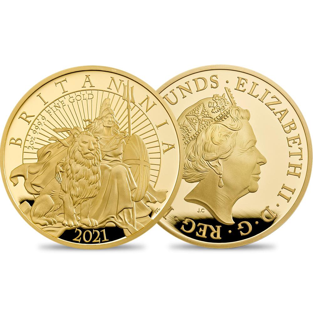 2021 エリザベス2世 ブリタニア 200ポンド2オンスプルーフ金貨 未鑑定 【ご予約承り品】