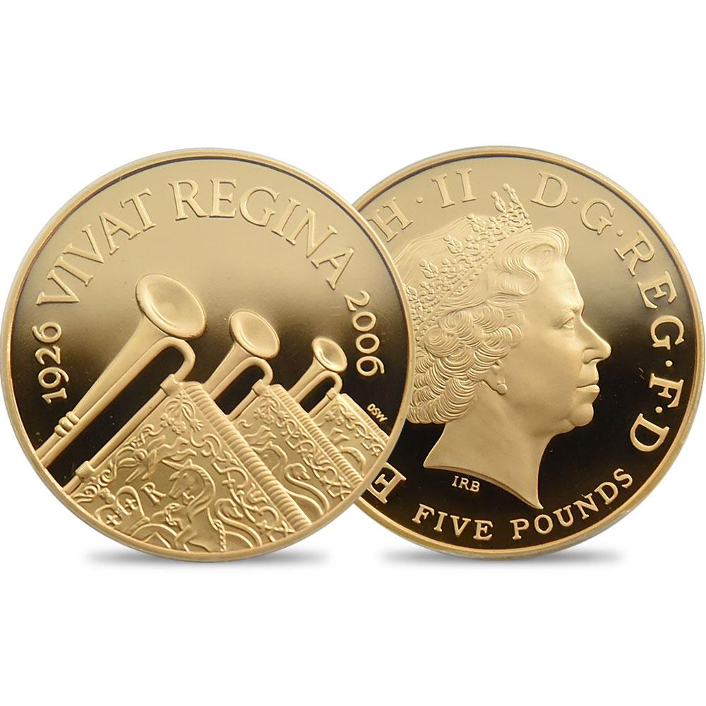 2006 エリザベス2世 生誕80年記念 5ポンド金貨 PCGS PR69DC 発行数2750枚