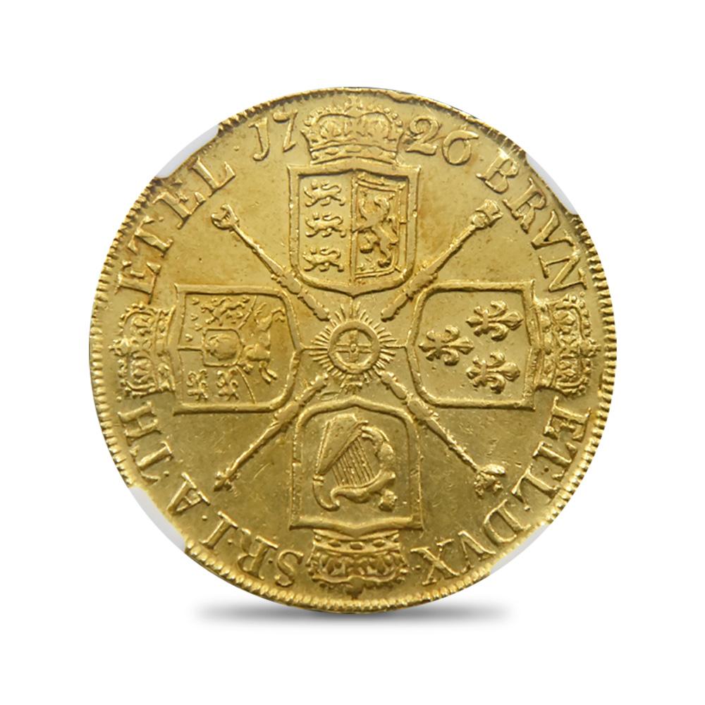 1726 ジョージ1世 5ギニー金貨 NGC AU55