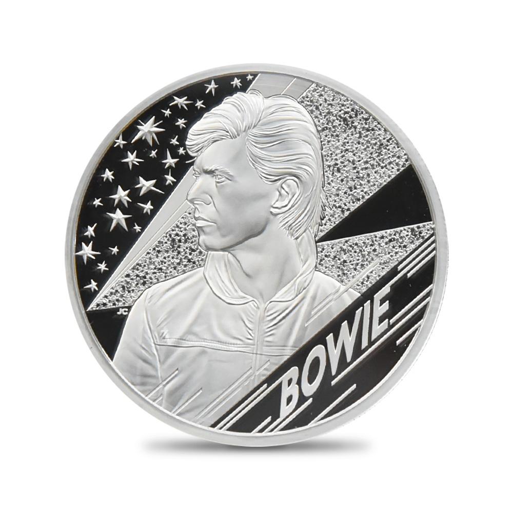 2020 エリザベス2世 ミュージックレジェンド デヴィッド・ボウイ 5ポンド2オンス銀貨 ファーストリリース NGC PF70UC 箱付き