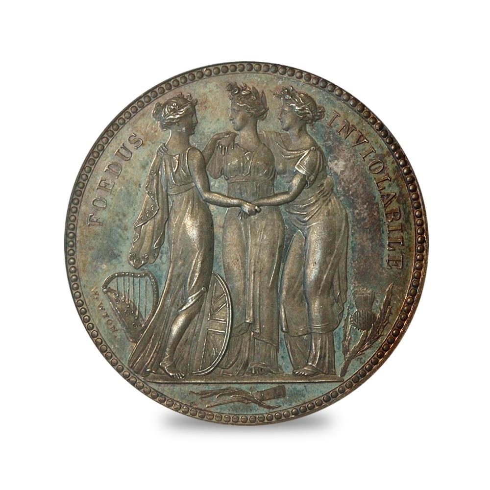 1817年 ジョージ3世 クラウン 試鋳銀貨 スリーグレーセス PCGS PR65+DC