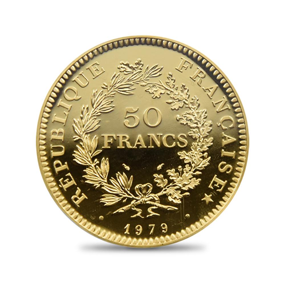 フランス 1979 ヘラクレス 50フランピエフォー試作金貨 リパブリックプルーフ PCGS SP66