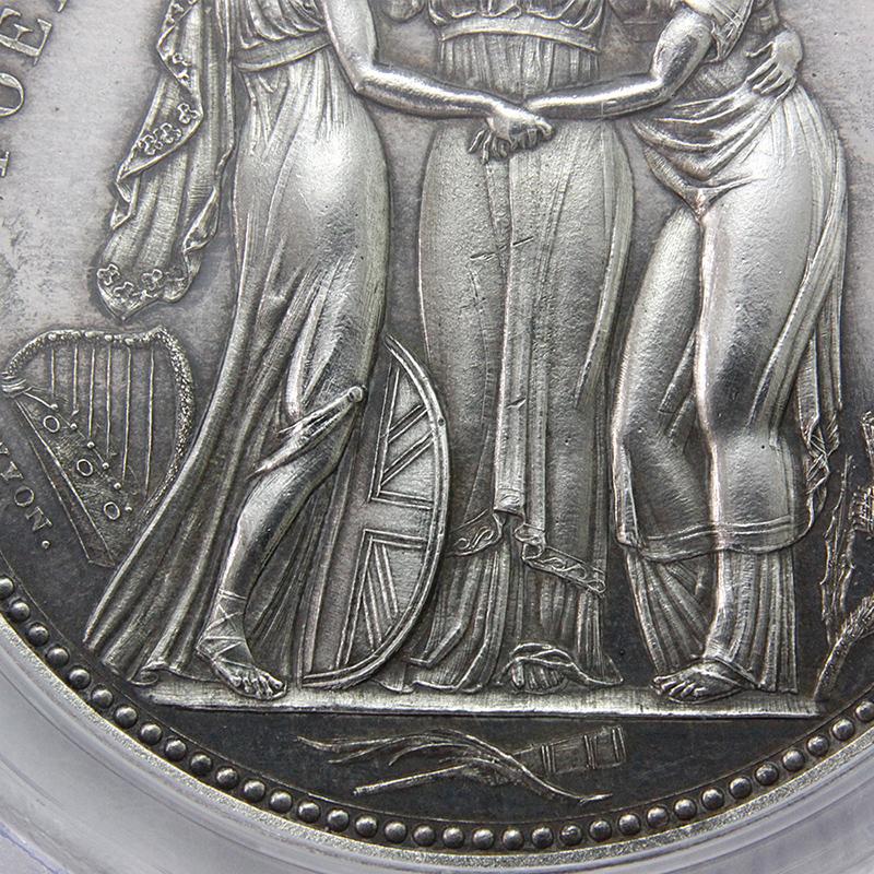 1817年 ジョージ3世 クラウン 試鋳銀貨 スリーグレーセス PCGS PR63(R2)