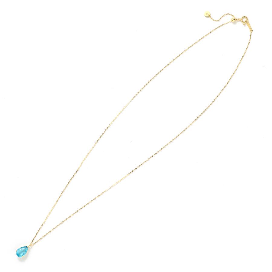K18YG ブルーアパタイト ペアシェイプカット ネックレス【一点もの】