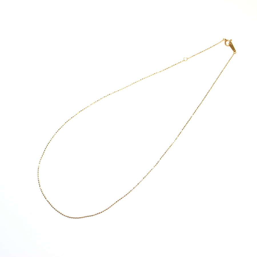 K10YG colette(コレット)40cm ボールチェーンネックレス