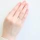 【4月 誕生石】K10YG 1粒ダイヤ誕生石リング / 誕生石ピンキーリング 1〜18号【オーダーメイド商品】