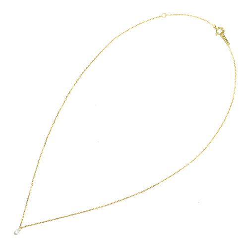 K18YG ダイヤ ブリオレットネックレス(0.17ct)