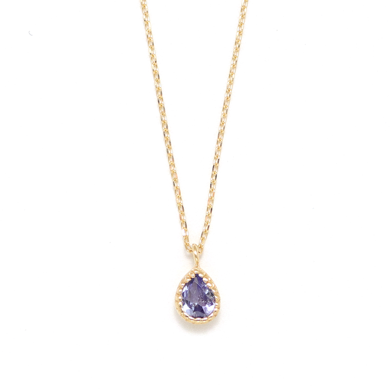 【12月 誕生石】K10YG タンザナイト エンフィス誕生石ネックレス