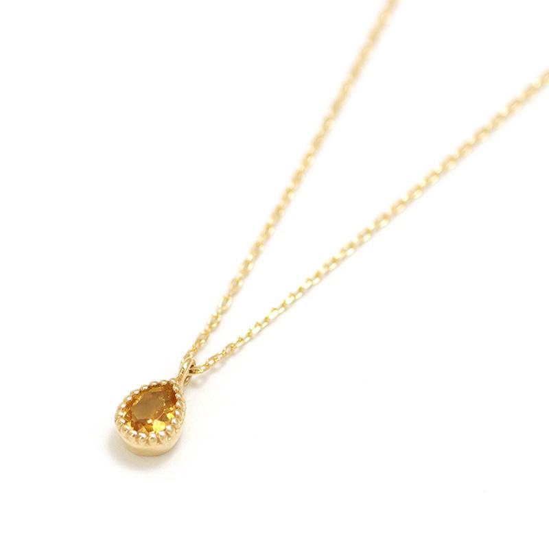【11月 誕生石】K10YG シトリン エンフィス誕生石ネックレス