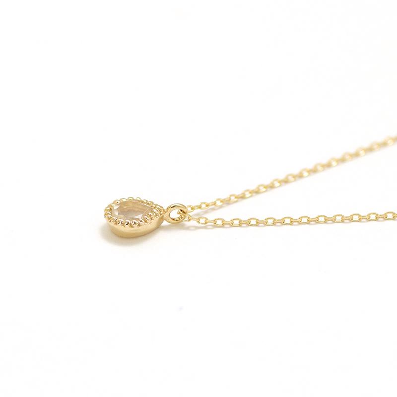 【6月 誕生石】K10YG ムーンストーン エンフィス誕生石ネックレス